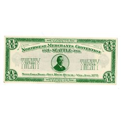 "Northwest Merchants Convention, 1921, ""Monte Carlo Night"" Gambling Scrip Note"