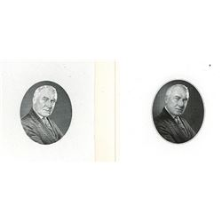 G.F.C. Smillie's Progress Proof Pair of Engraved Die Pulls of Warren G. Harding.