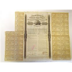 C.S.A., 1863 7% Cotton Loan of the Confederate States, Issued Bond.