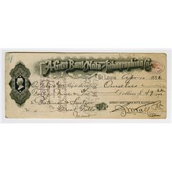 A. Gast Bank Note & Lithographic Company Check