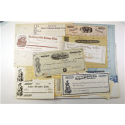 Bank Checks Group lot of over 40 pieces.