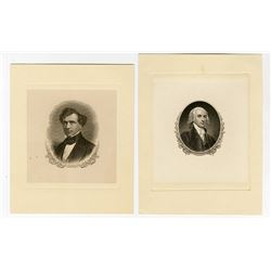 James Madison & Franklin Pierce ND (ca.1870-90s) Proof Vignettes.