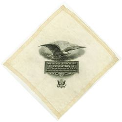 Louisiana Purchase Exposition 1904 BEP Engraved Silk Souvenir Handkerchief