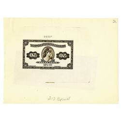 American Bank Note Co., 1921, Proof 50 Cents Ad Note