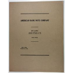 American Bank Note Company, 1913 Bylaws.