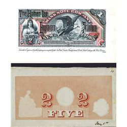 Homer Lee Bank Note Co. ND 1880-90's Specimen Advertising Note