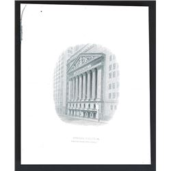 New York Stock Exchange Building Proof Vignette by ABNC..