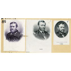 Ulysses S. Grant Trio of Vignette Proofs ca,1870-80s.