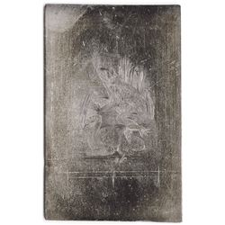 Frogs Vignette Printing Plate Used on Obsolete Banknotes, ca.1840-50s.