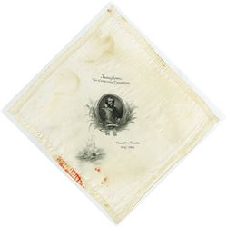 Jamestown Ter-Centennial Exposition 1907 BEP Printed Silk Handkerchief