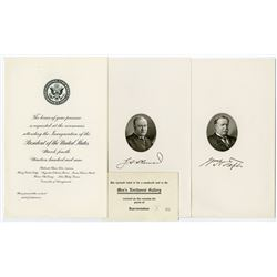 Engraved Invitation to President Taft's 1909 Inauguration