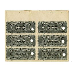 Pittsburgh Railways Co., ca. 1920s, Specimen Train Ticket, McKeesport Division, 1 Fare (6)