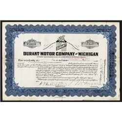 Durant Motor Co. of Michigan, 1924 Issued Stock.