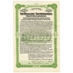 Bellaire-Southwestern Traction Co., 1906, Issued Bond.