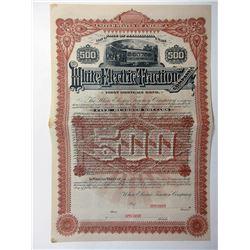 White Electric Traction Co. 1891 Specimen Bond.