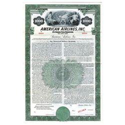 American Airlines, Inc. 1946. Specimen Bond.