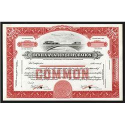 Bendix Aviation Corporation, ca. 1920-30's  Specimen Stock Certificate.