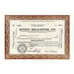 Bendix Helicopter, Inc., 1945 Issued Stock Certificate