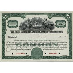 Anglo California National Bank of San Francisco, ca.1920-1930 Specimen Stock Certificate.