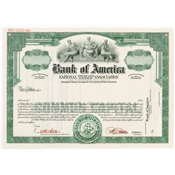 Bank of America National Trust and Savings Association., 1940-60 Specimen Stock Certificate.