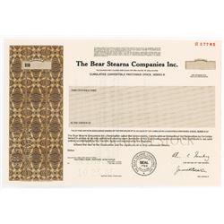 Bear Stearns Co. Inc., 1985 Specimen Stock Certificate