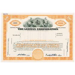 The Lehman Corporation, 1950-60's Specimen Stock Certificate.