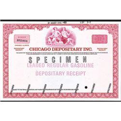 Chicago Board of Trade - Chicago Depositary Inc., 1982 Specimen Depositary Receipt.