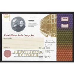 Goldman Sachs Group, Inc., I.P.O.  Specimen Stock Certificate.