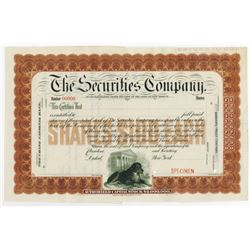 Securities Co., 1890-1900 Specimen Stock Certificate