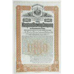 Maryland Brewing Co., 1899 Specimen Bond