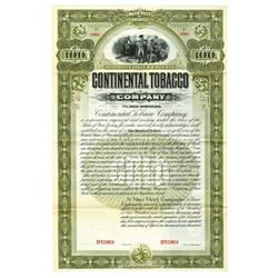 Continental Tobacco Co., ca.1900-1920. Specimen Bond.