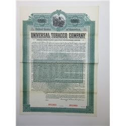 Universal Tobacco Co., 1903 Specimen Bond.