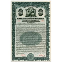 International Telephone and Telegraph Corp., 1930 Specimen Bond