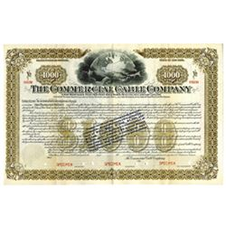 Commercial Cable Co., ca.1900-1910 Specimen Bond