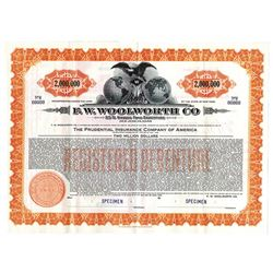 F.W. Woolworth Co., 1940 Specimen Bond