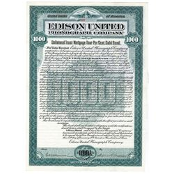 Edison United Phonograph Co., 1903 Issued Bond
