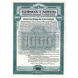 Edison United Phonograph Co., 1903 Issued Bond