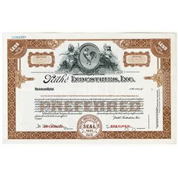 PathŽ Industries, Inc., 1935 Specimen Stock Certificate.