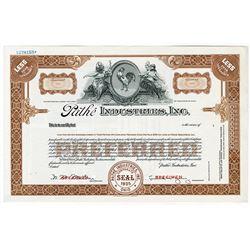 PathŽ Industries, Inc., 1935 Specimen Stock Certificate.