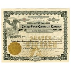 Chicago-Yukon Commercial Company Share Certificate of 1898