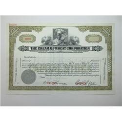 Cream of Wheat Corp., 1929 Specimen Stock Certificate.