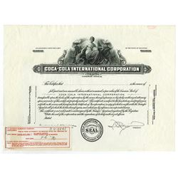 Coca-Cola International Corp., 1930-40 proof Stock Certificate.