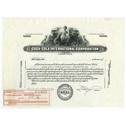 Coca-Cola International Corp., 1930-40 proof Stock Certificate.