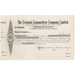 Colonial Ammunition Company, (1885) Proof 5000 Shares Certificate