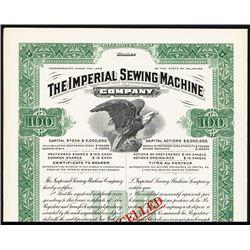 Imperial Sewing Machine Co. 1910-20 Specimen Bond.