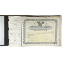 Kelly Reamer Co., 1920-1922 Book of Issued Stock Certificates
