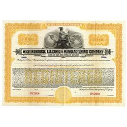 Westinghouse Electric & Manufacturing Co., 1910s Specimen Bond.