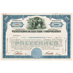 Westinghouse Electric & Manufacturing Co., 1930-1950s Specimen Stock Certificate