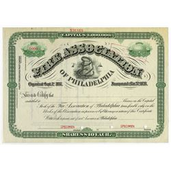 Fire Association of Philadelphia, 1920s Specimen Stock Certificate