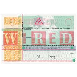WIRED Internet Era Magazine Stock Certificate.